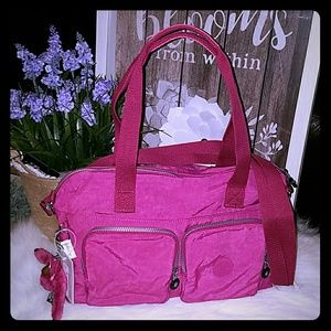Kipling Cyrene flamingo pink bag
